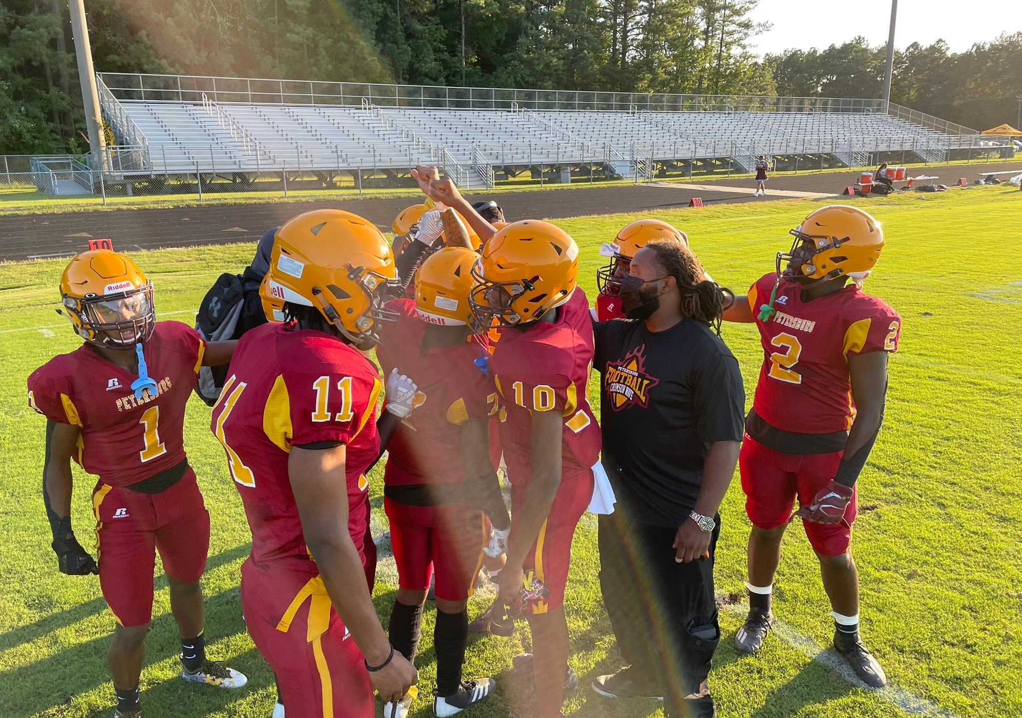 Petersburg High School players before the game