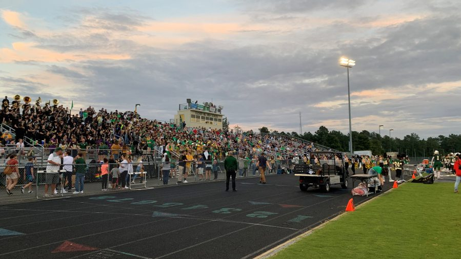 The crowd at the Cosby / Clover Hill game