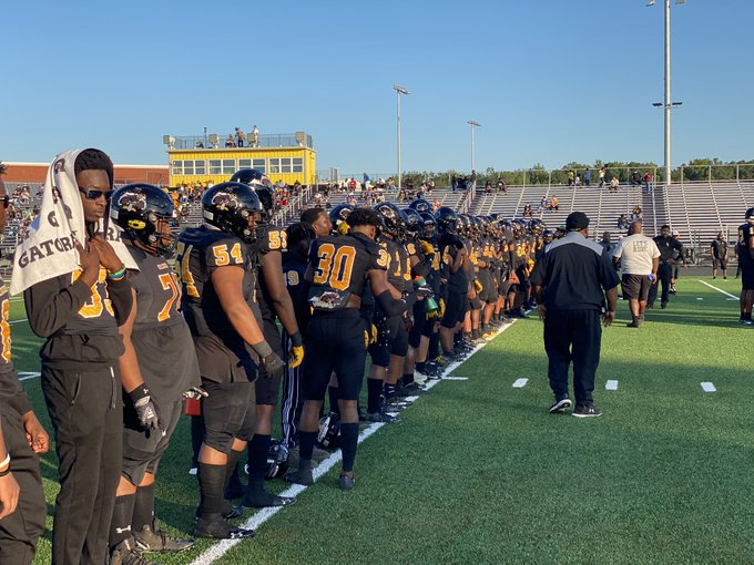 Highland Springs football team before the game