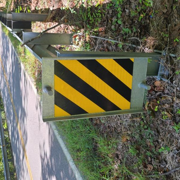 Lindsay X-Lite guardrail in Dinwiddie County