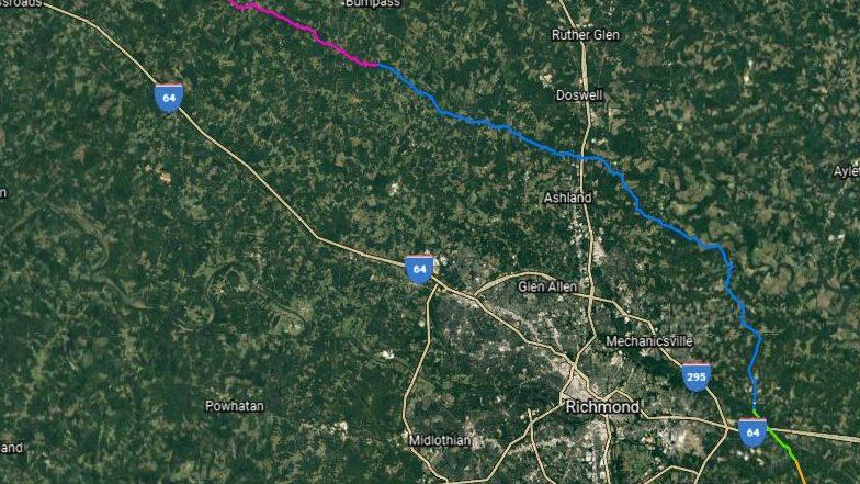 Chickahominy Pipeline path