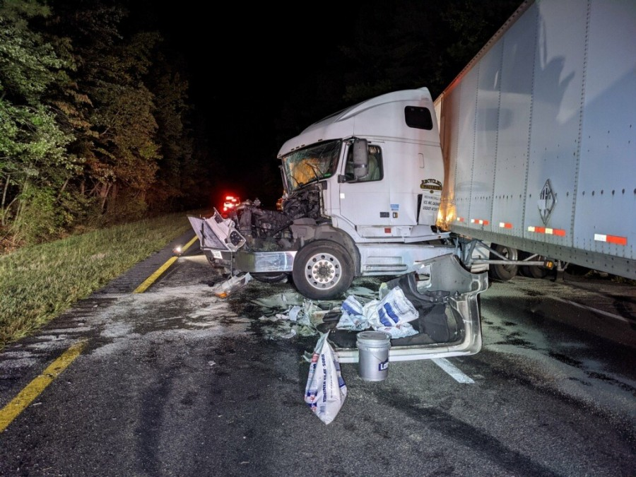 tractor trailer dump truck accident