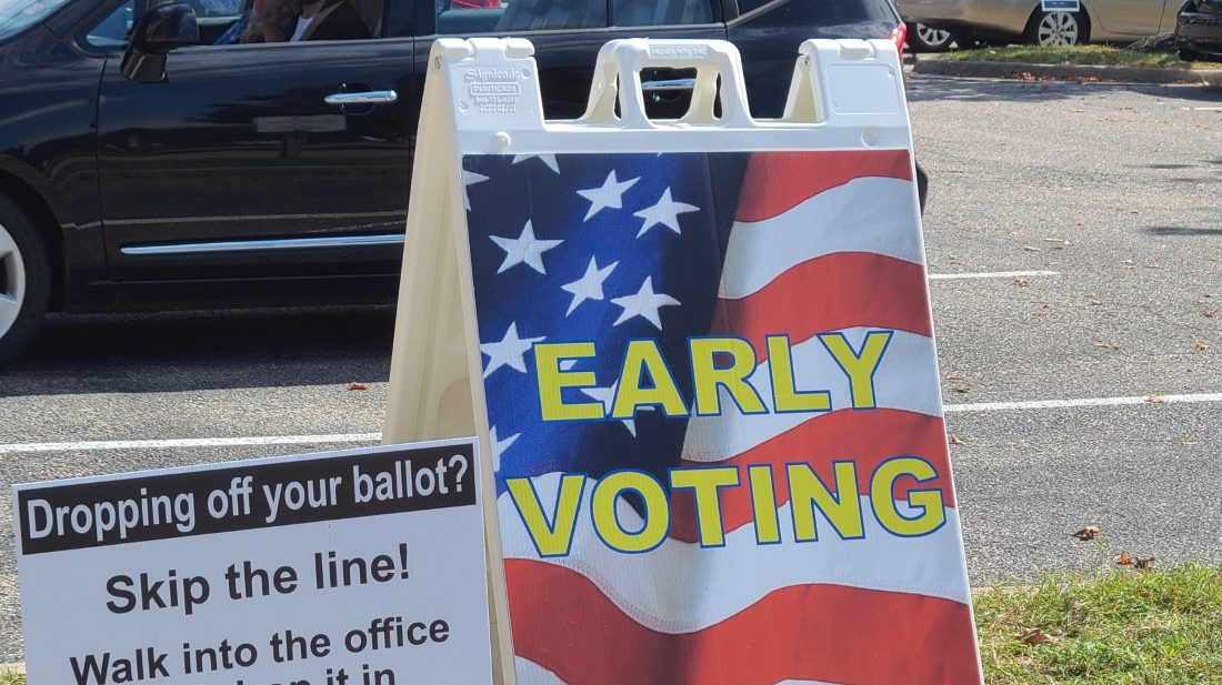 Chesterfield county early voting sign