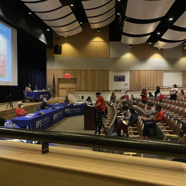 Richmond Public Schools School Board meeting collective bargaining teachers